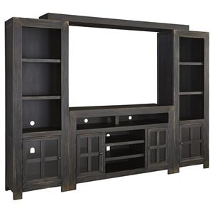 Signature Design by Ashley Gavelston TV Stand with Piers & Bridge