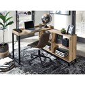 Signature Design by Ashley Gerdanet L-Shaped Home Office Desk with Open Shelving