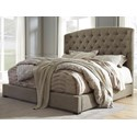 Signature Design by Ashley Gerlane Queen Upholstered Bed - Item Number: B657-77+74