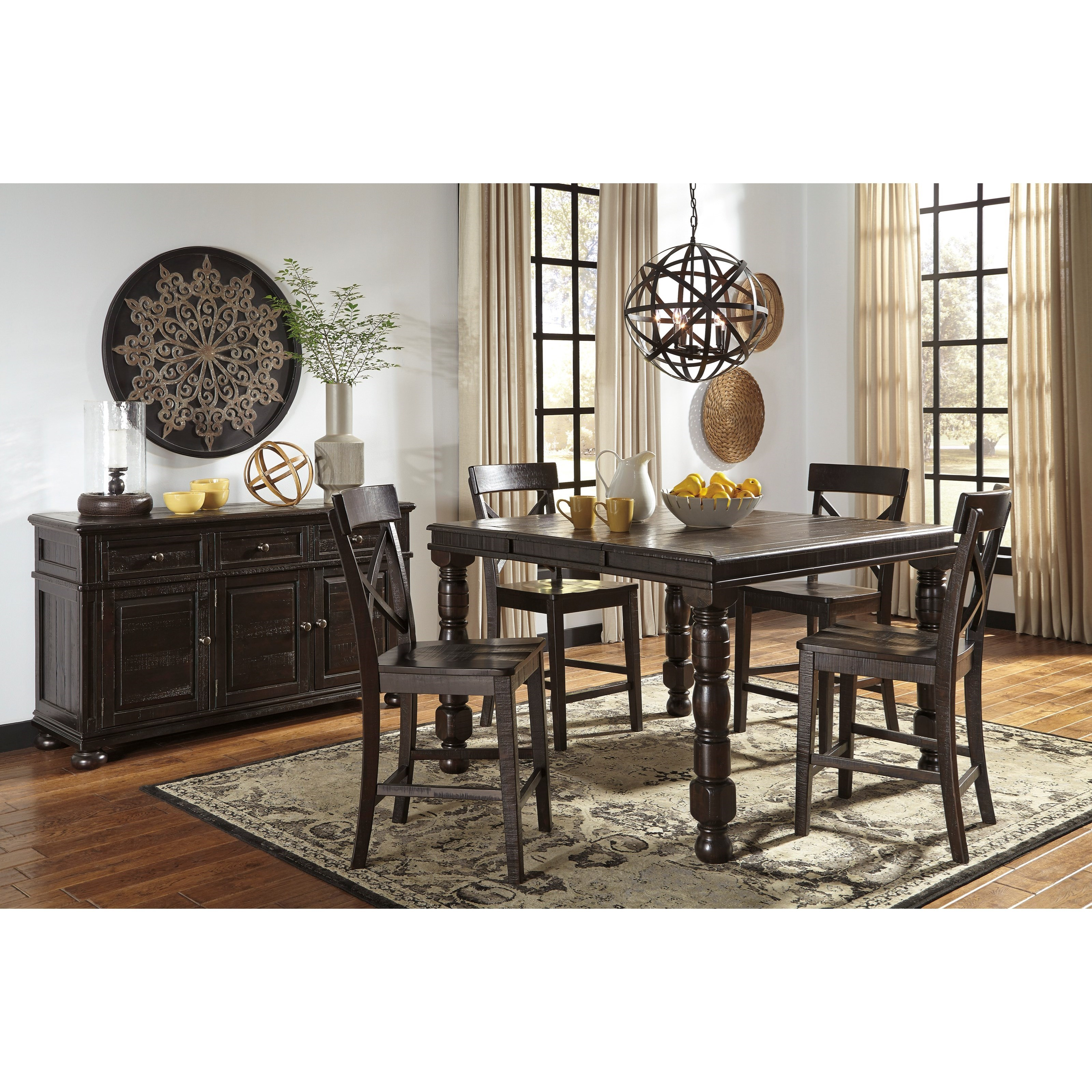 Signature Design by Ashley Gerlane Casual Dining Room Group - Item Number: D657 Dining Room Group 6