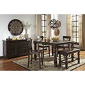 Benchcraft Gerlane Casual Dining Room Group - Item Number: D657 Dining Room Group 7