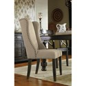 Signature Design by Ashley Gerlane 7-Piece Solid Pine Dining Table Set with Upholstered Chairs