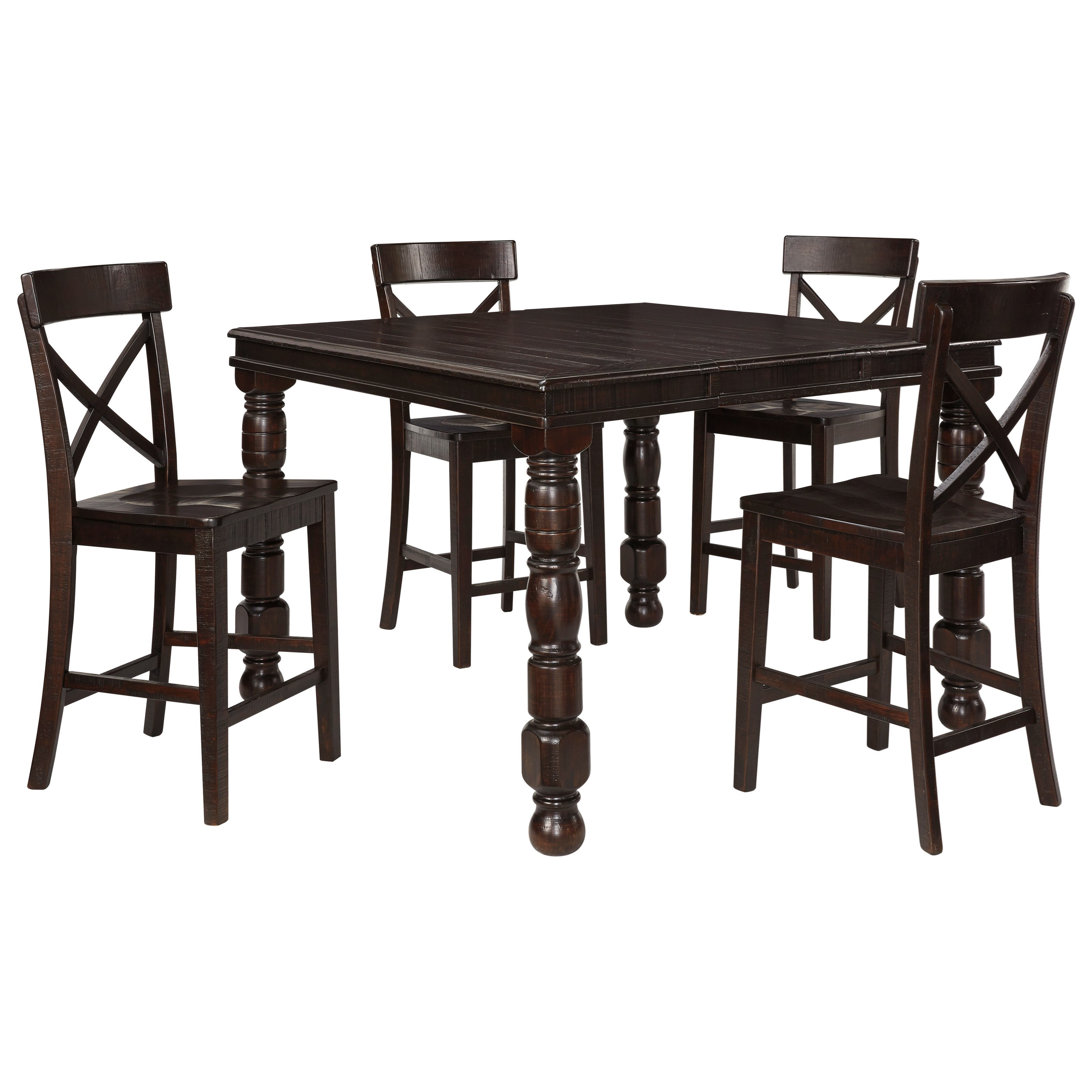 Signature Design by Ashley Gerlane 5-Piece Counter Table Set - Item Number: D657-32+4x124