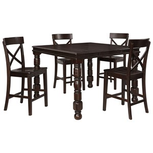 Signature Design by Ashley Gerlane 5-Piece Counter Table Set