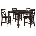 Signature Design by Ashley Gerlane Solid Pine Wood Rectangular Dining Room Counter Extension Table