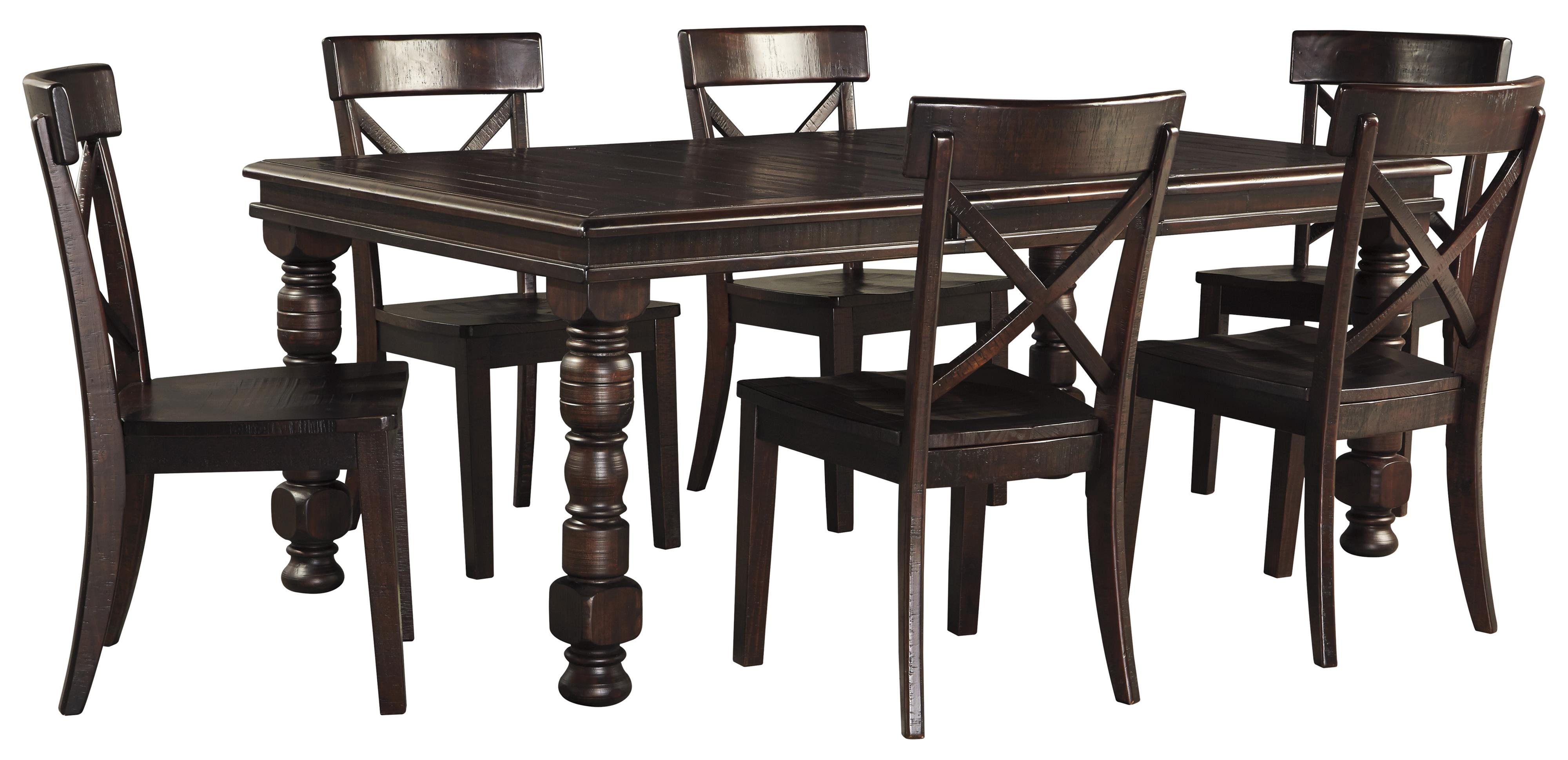 Signature design by ashley gerlane 7 piece solid pine for 7 piece dining set with bench