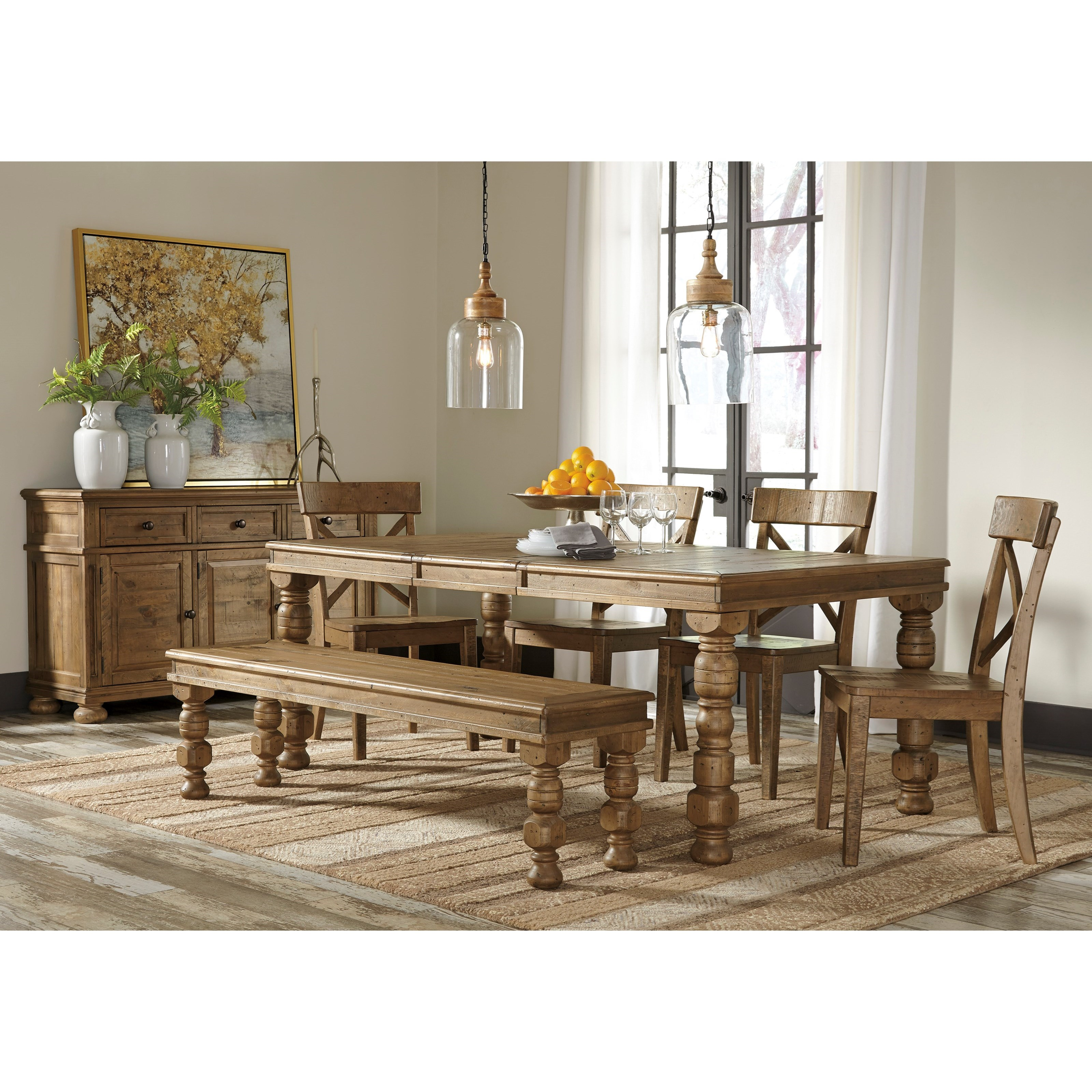 Signature Design by Ashley Trishley Casual Dining Room Group - Item Number: D659 Dining Room Group 2