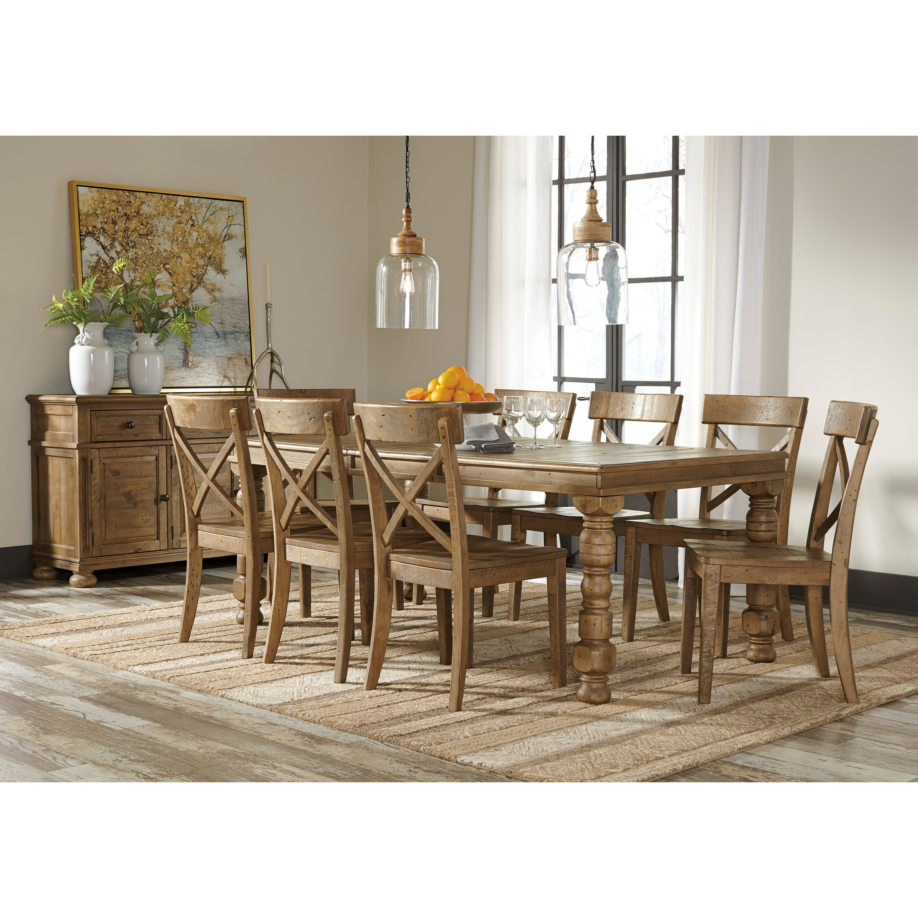 signature design by ashley trishley casual dining room