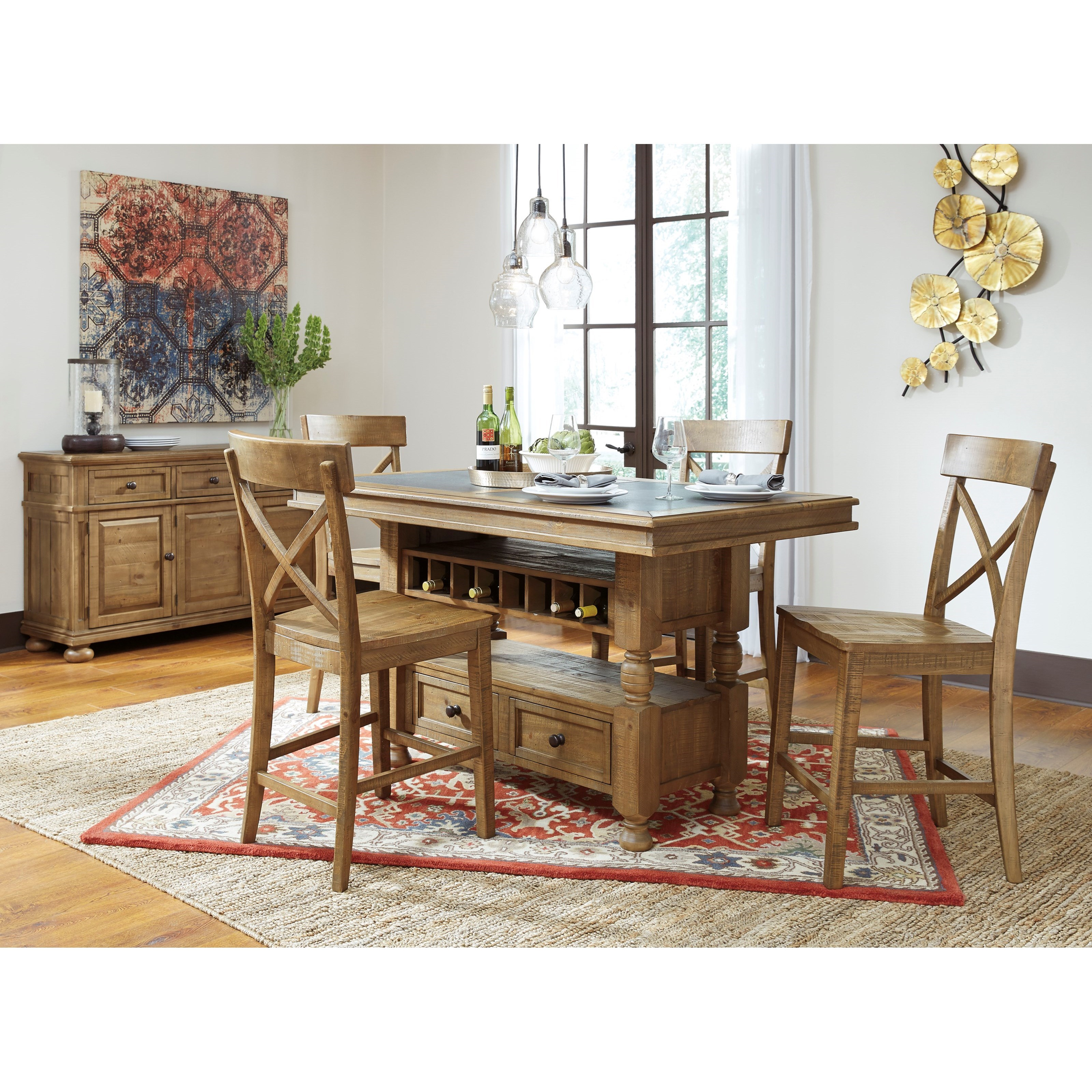 Signature Design by Ashley Trishley Casual Dining Room Group - Item Number: D659 Dining Room Group 4