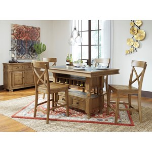 Benchcraft Trishley Casual Dining Room Group