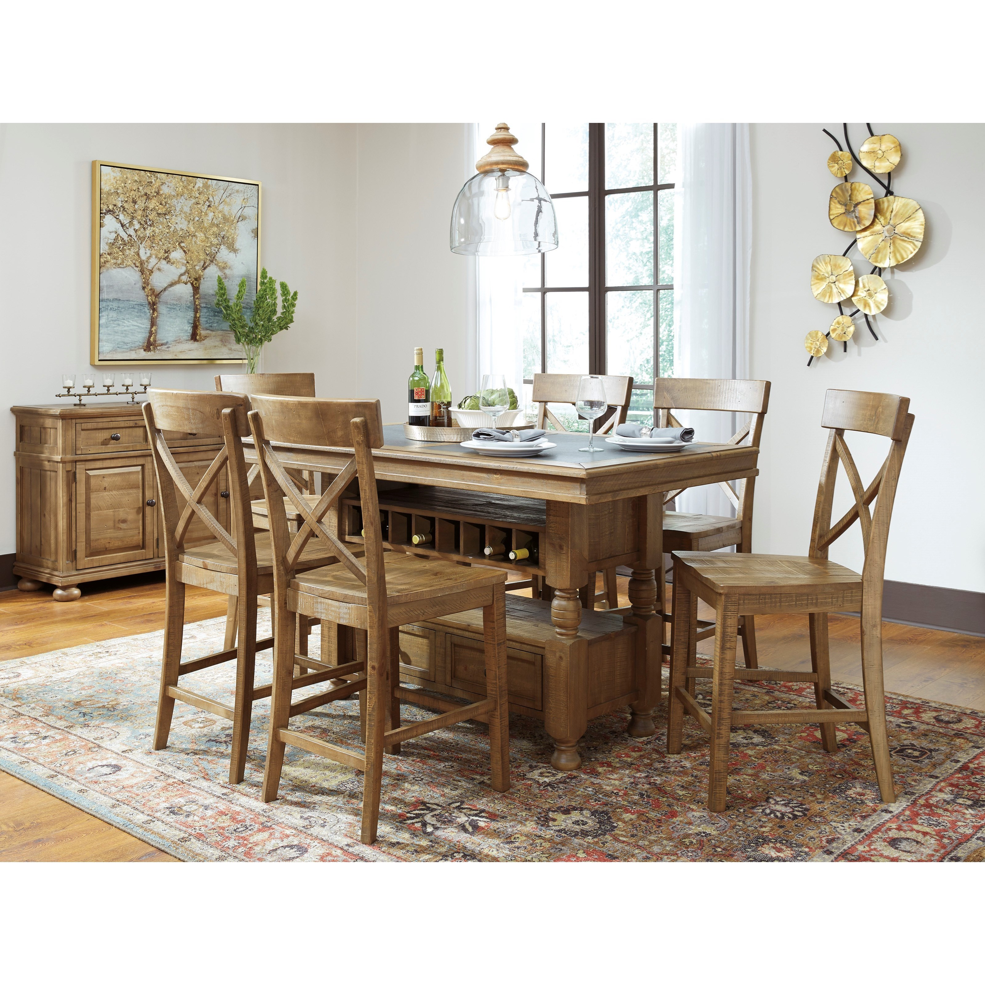 Signature Design by Ashley Trishley Casual Dining Room Group - Item Number: D659 Dining Room Group 5