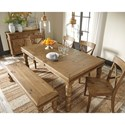 Signature Design by Ashley Trishley Solid Pine Wood Large Dining Room Bench with Turned Legs