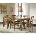 Signature Design by Ashley Trishley Solid Pine Dining Room Side Chair with X-Back