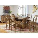 Signature Design by Ashley Trishley 7-Piece Counter Table w/ Storage Set