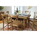 Signature Design by Ashley Trishley Solid Pine Rectangular Counter Table w/ Storage