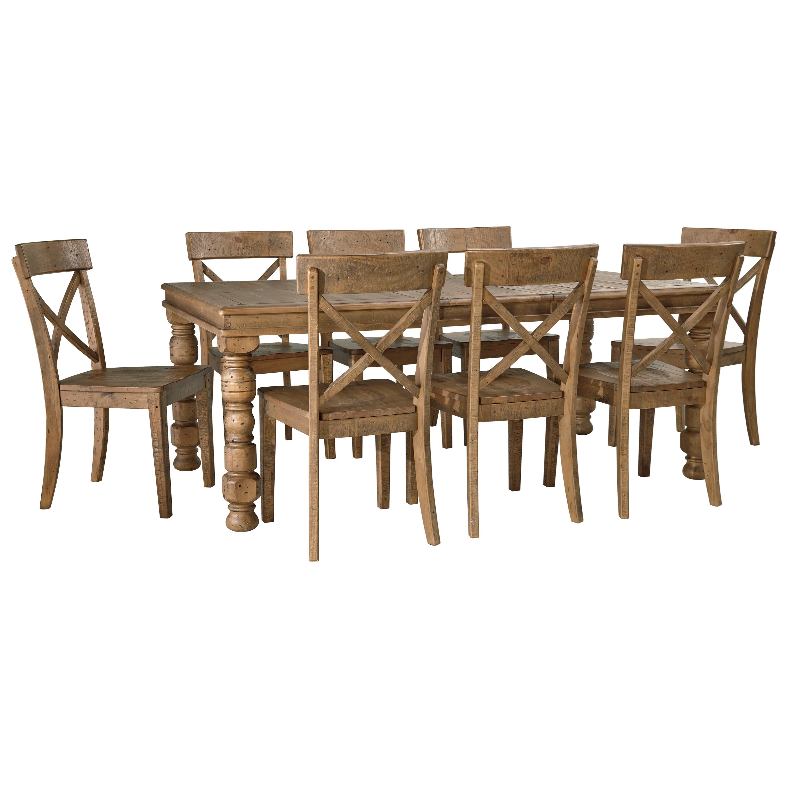 Signature Design by Ashley Trishley 9-Piece Dining Table Set - Item Number: D659-35+8x01