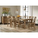 Signature Design by Ashley Trishley 9-Piece Solid Pine Dining Table Set