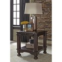 Signature Design by Ashley Gerlane Solid Pine Wood Rectangular End Table