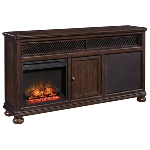 Signature Design by Ashley Gerlane TV Stand w/ Fireplace Insert & Speaker