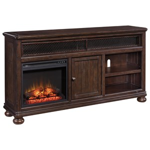 Ashley Signature Design Gerlane Extra Large TV Stand w/ Fireplace Insert