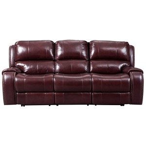 Signature Design by Ashley Gilmanton Power Reclining Sofa w/ Adjustable Headrest