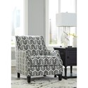 Signature Design by Ashley Gilmer Accent Chair in Geometric Gray Fabric