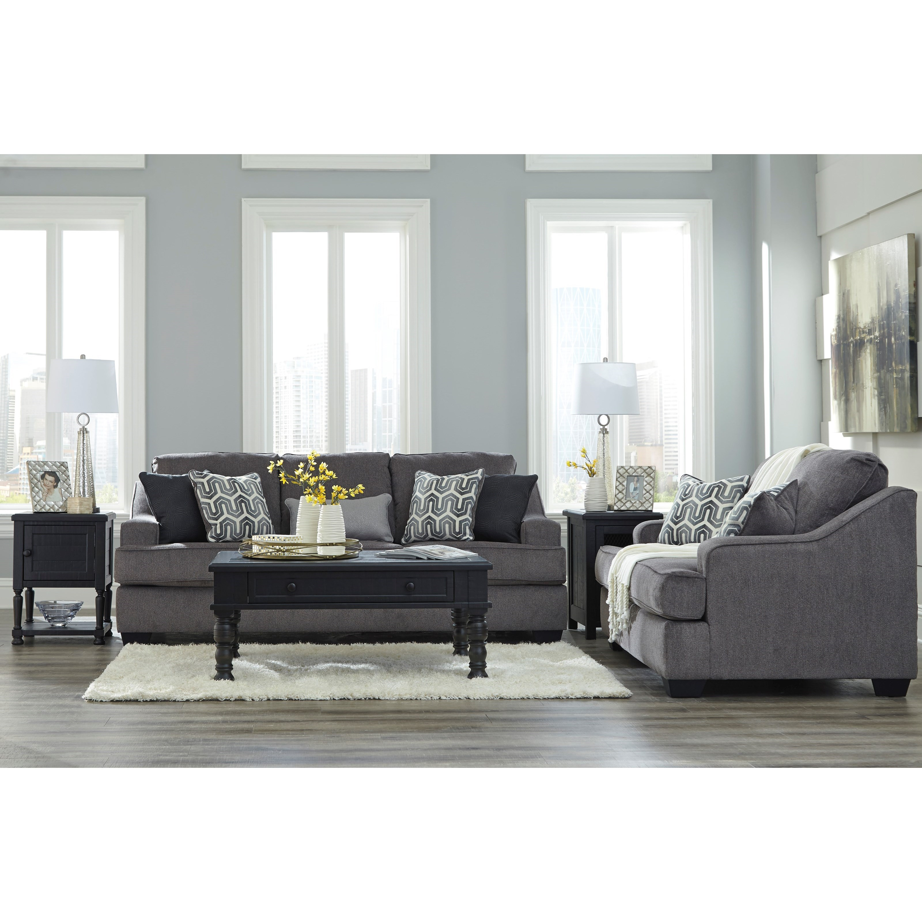 Signature Design By Ashley Gilmer Contemporary Loveseat With Track Arms Olinde 39 S Furniture