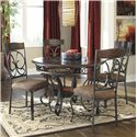 Signature Design by Ashley Glambrey Round Dining Table and Chair Set - Item Number: D329-15+4x01