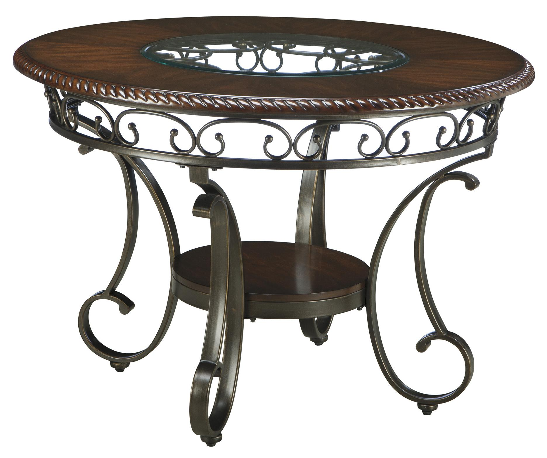 Signature Design By Ashley Glambrey Round Dining Room Table With - Ashley center table