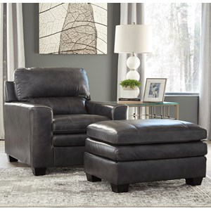 Signature Design By Ashley Gleason Chair U0026 Ottoman