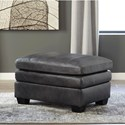 Signature Design by Ashley Gleason Leather Match Chair & Ottoman