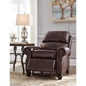 Signature Design by Ashley Glengary Traditional Leather Match Low Leg Recliner