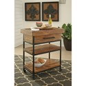 Signature Design by Ashley Glosco Solid Wood/Metal Serving Cart