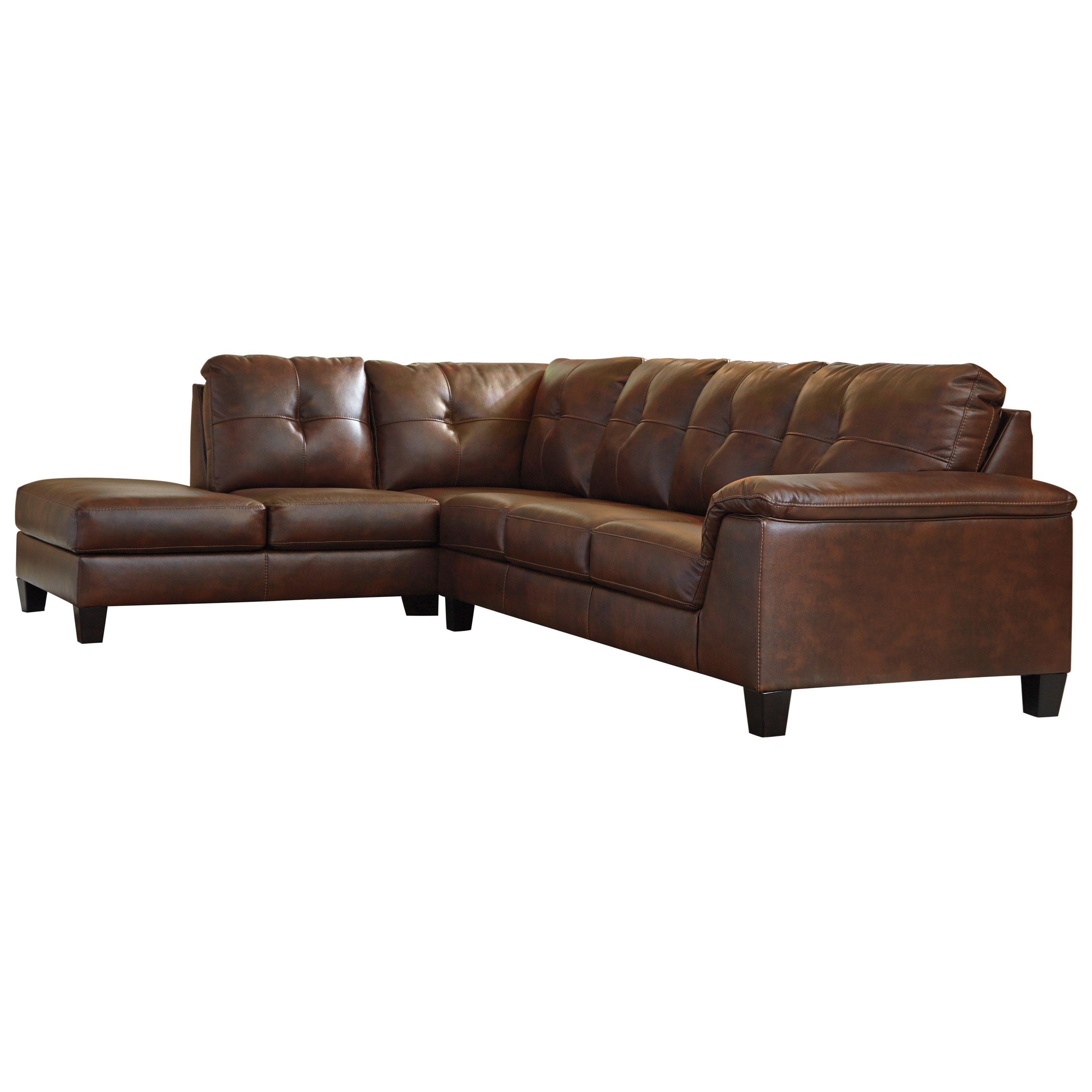 Signature Design by Ashley Goldstone 2 Piece Sectional - Item Number: 3420367+16
