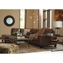 Signature Design by Ashley Goldstone Contemporary 2 Piece Sectional with Chaise