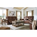 Signature Design by Ashley Golstone Reclining Living Room Group - Item Number: U51001 Living Room Group 2