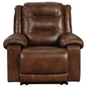 Signature Design by Ashley Golstone Power Recliner with Adjustable Headrest - Item Number: U5100113