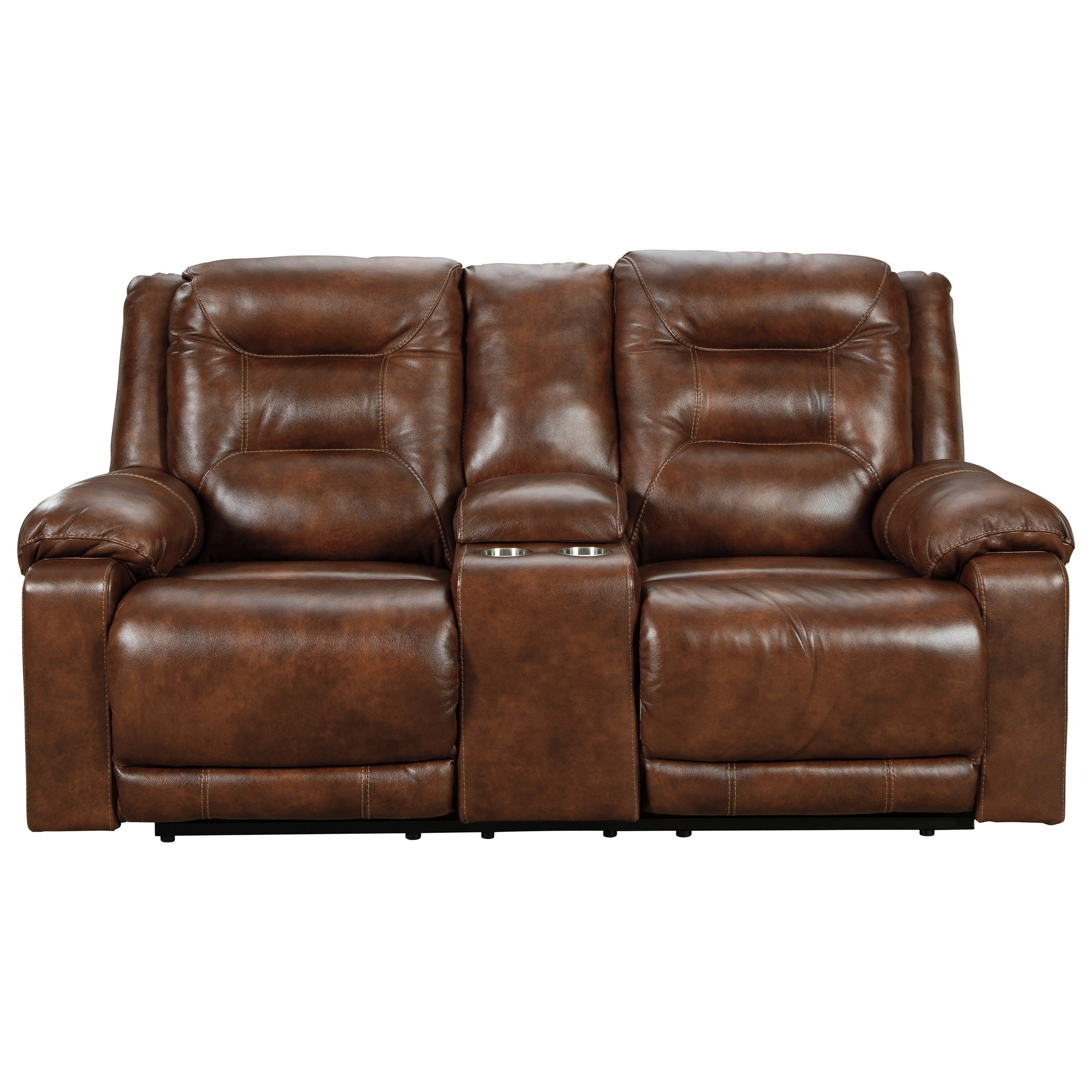 Power Loveseat w/ Console & Adj. Headrests