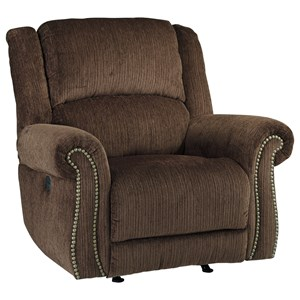 Signature Design by Ashley Goodlow Power Rocker Recliner w/ Adjustable Headrest