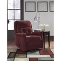 Signature Design by Ashley Gorham Transitional Glider Recliner with Rolled Arms