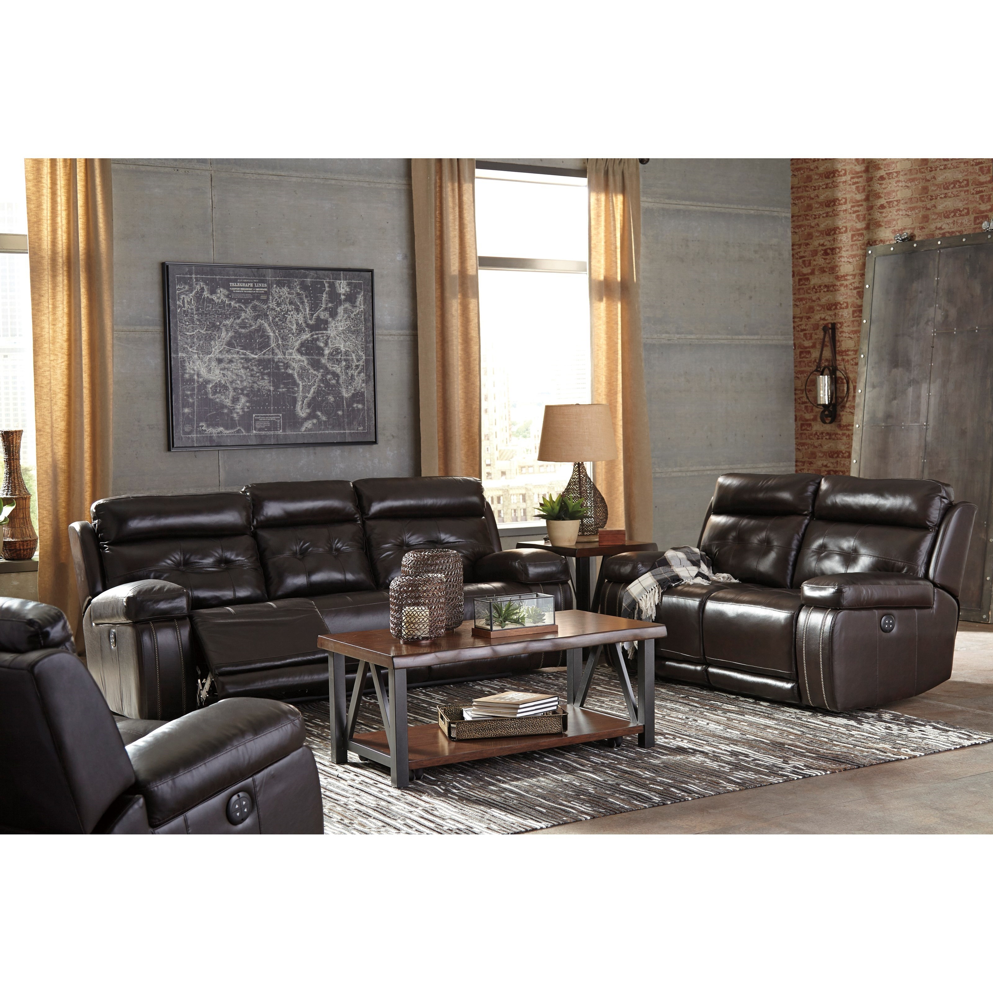Signature Design by Ashley Graford Reclining Living Room Group - Item Number: 64702 Living Room Group 2