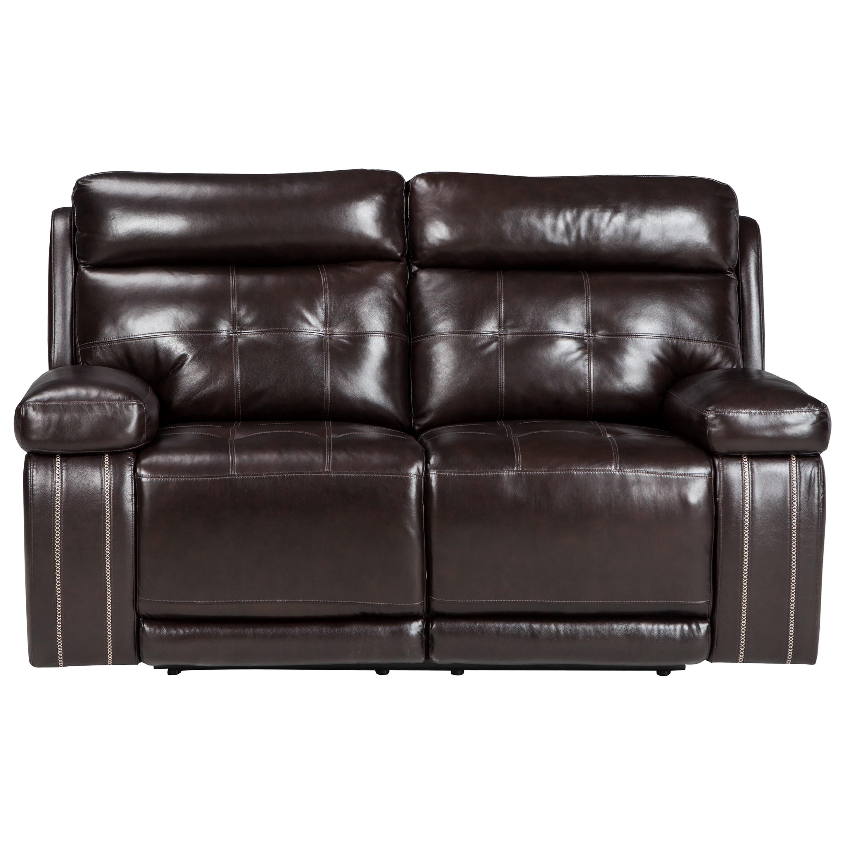 Signature Design by Ashley Graford Power Reclining Loveseat w/ Adj. Headrest - Item Number: 6470214