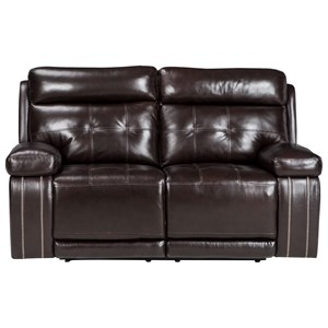 Signature Design by Ashley Graford Power Reclining Loveseat w/ Adj. Headrest