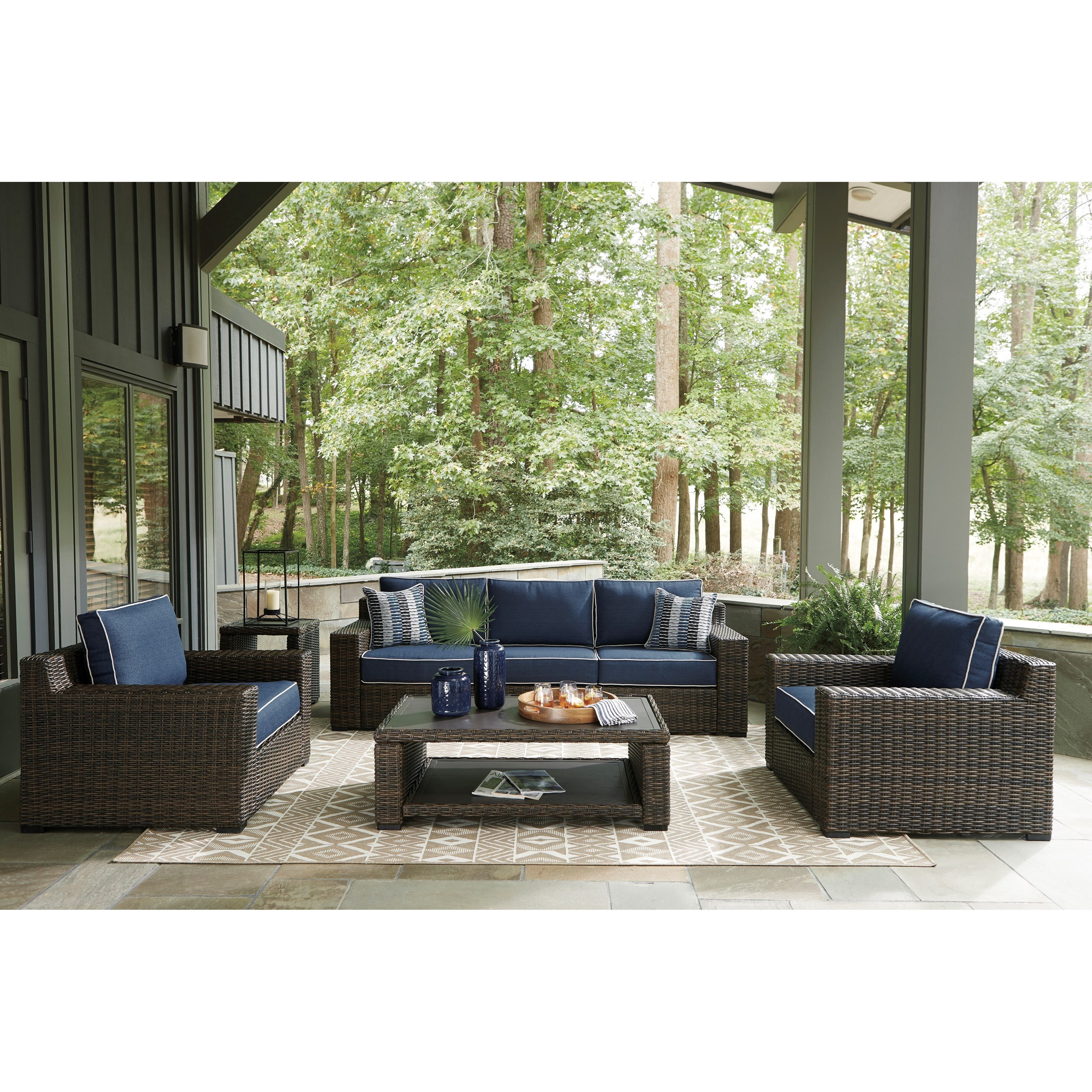 Grasson Lane Outdoor Conversation Set by Ashley (Signature Design) at Johnny Janosik
