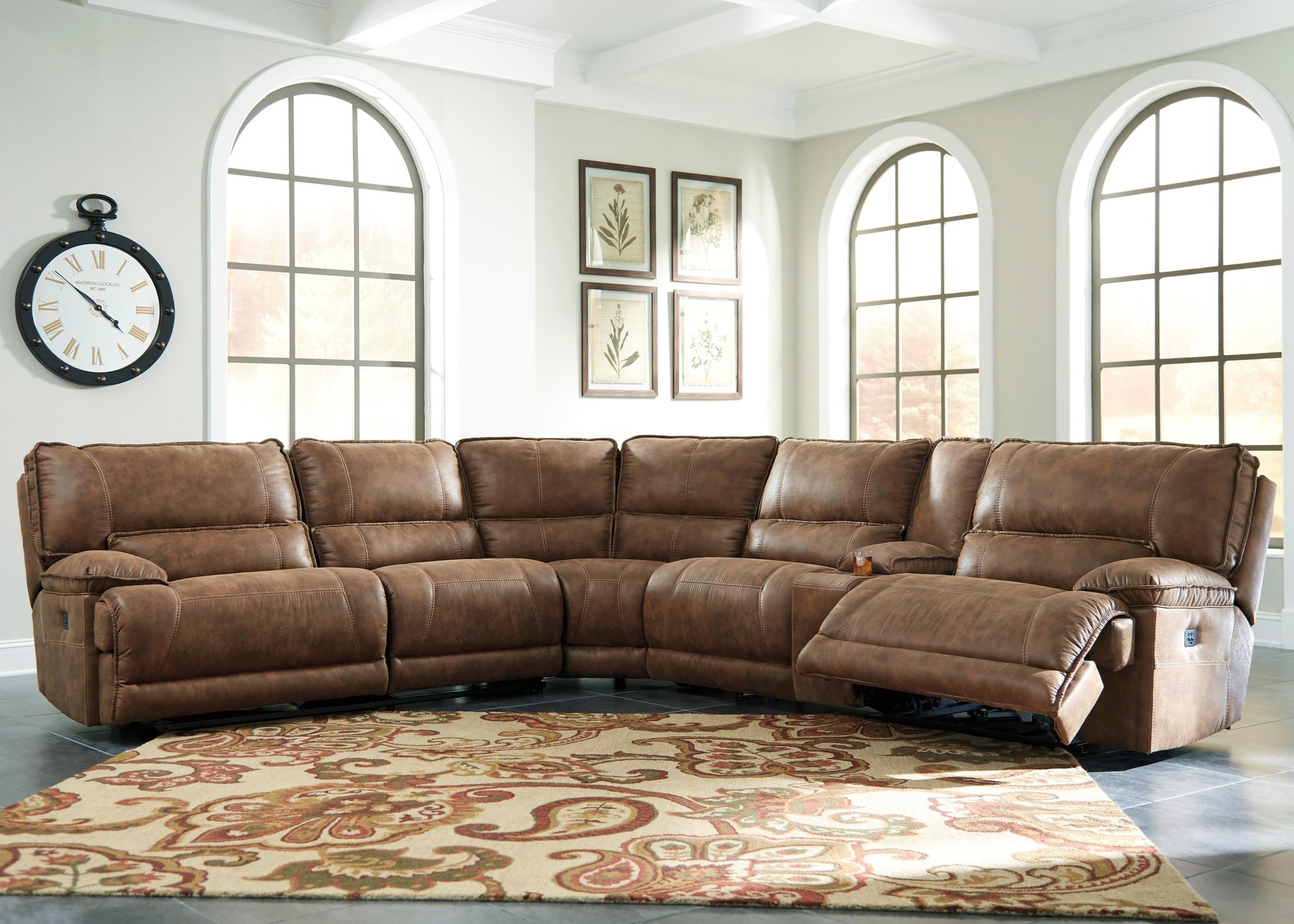 Signature Design By Ashley Grattis 6 Piece Power Reclining Sectional