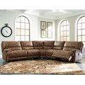 Signature Design by Ashley Grattis 5-Piece Power Reclining Sectional - Item Number: 6830358+19+77+46+62