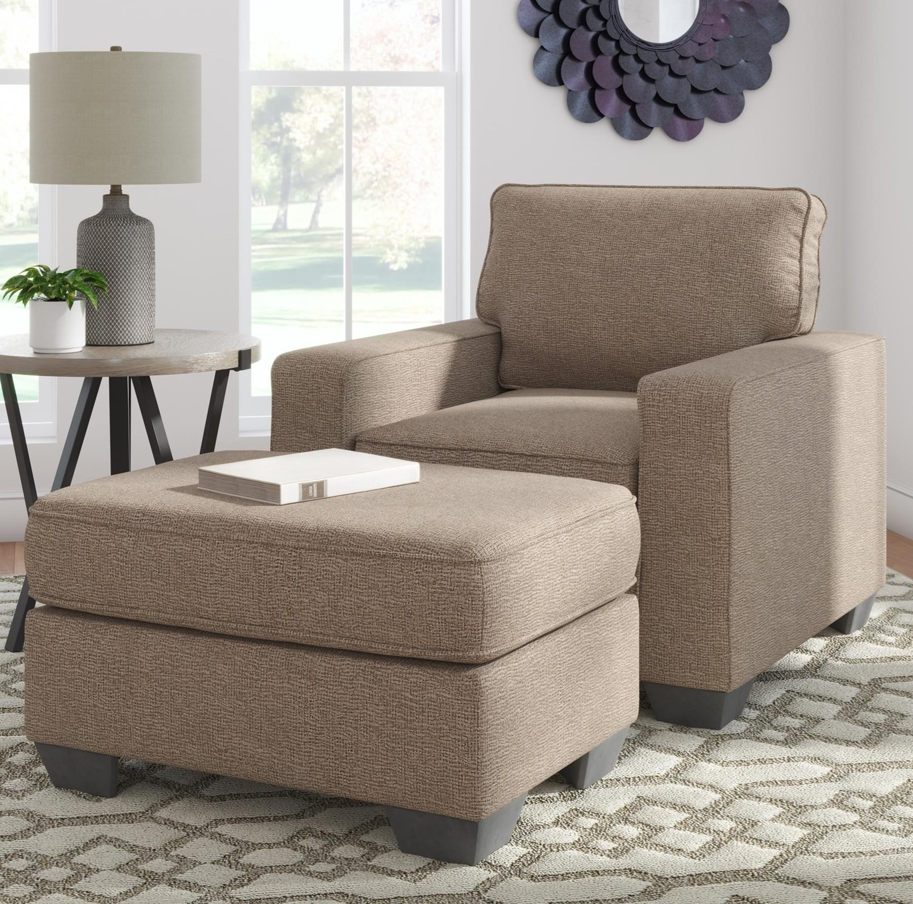 Greaves Chair & Ottoman by Signature Design by Ashley at Northeast Factory Direct