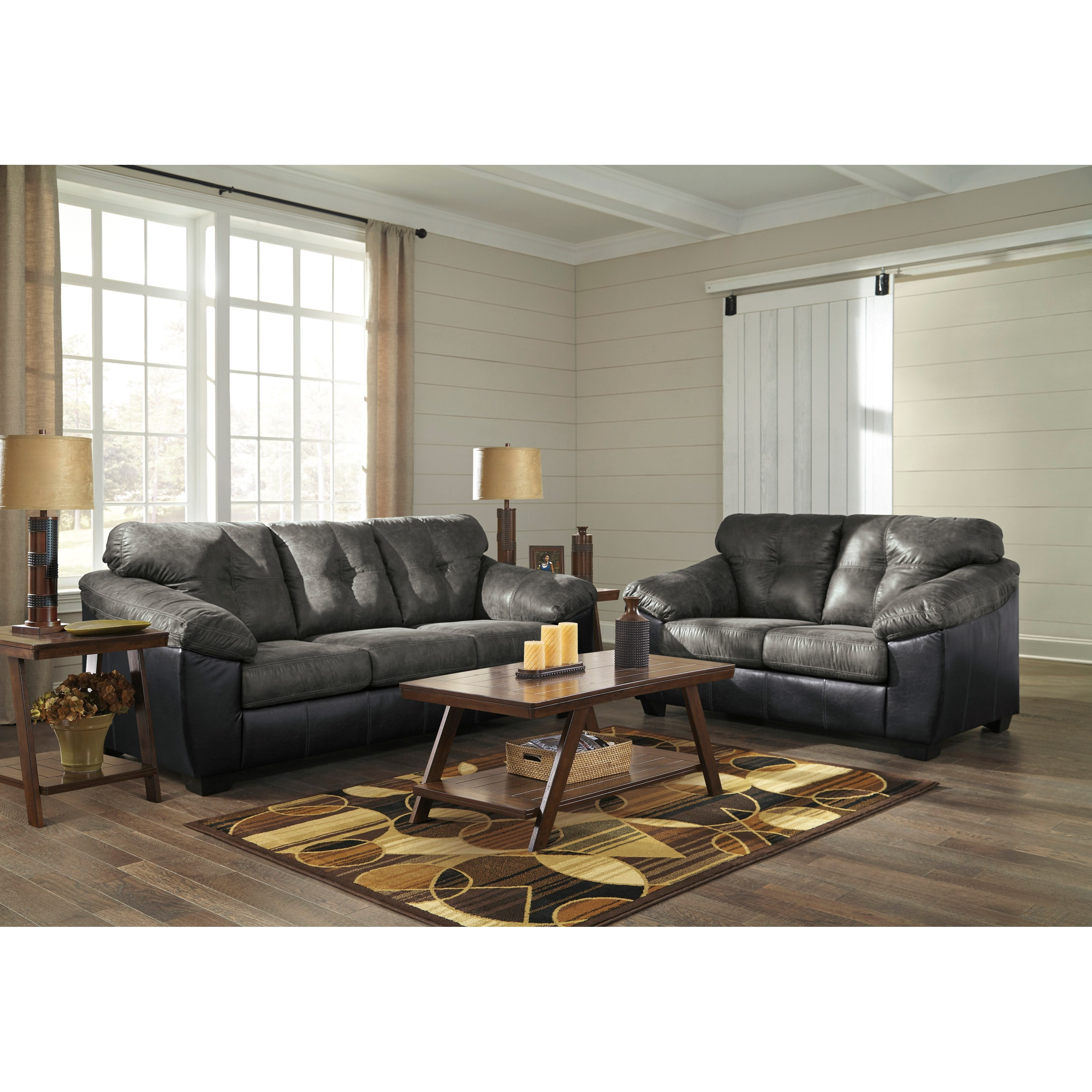 Signature Home Furnishings: Signature Design By Ashley Gregale Two Tone Faux Leather