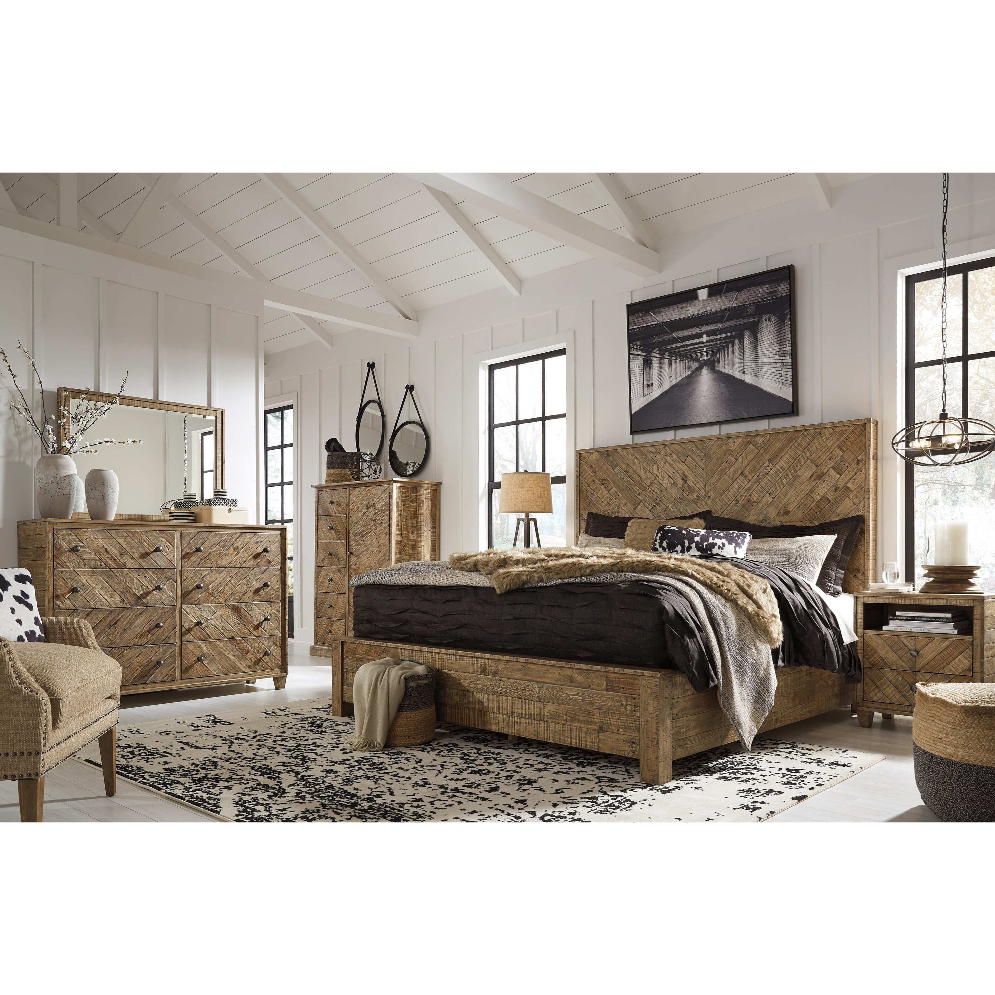 Ashley Furniture Bedroom Furniture: Signature Design By Ashley Grindleburg Queen Bedroom Group