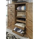 Signature Design by Ashley Grindleburg Rustic Door Chest